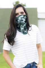 Adult Printed Neck Gaiter - Camo