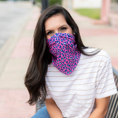 Adult Printed Neck Gaiter - Hot Pink Leopard