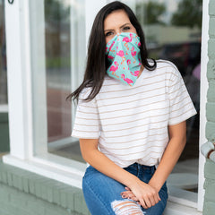 Adult Printed Neck Gaiter - Tickled Pink
