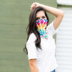 Adult Printed Neck Gaiter - Tie Dye