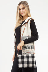 Buffalo Check Convertible Crossbody - Black