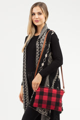 Buffalo Check Convertible Crossbody - Red