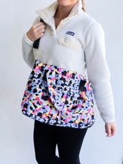 Puffer Messenger Bag - Multi Leopard