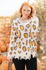 Mellow Yellow Leopard Sweater (Ships in 1-2 Weeks)