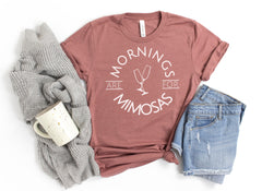 'Mornings are for Mimosas' Signature Graphic Tee (Ships in 2-3 Weeks)