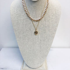 Luana Multi Layered Pearl and Shell Necklace