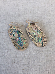 Isabelle Gold Abalone Drop Earrings