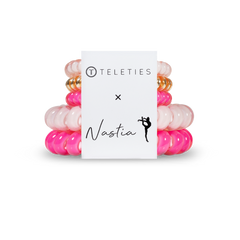 Nastia Liukin's Pick - Teleties Hair Tie Pack of 5 - Large and Small