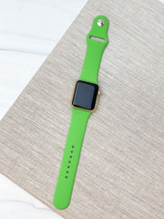 Neon Green Silicone Smart Watch Band - M/L