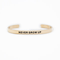 'Never Grow Up' Cuff Bracelet by Lillian & Co.