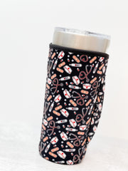 Insulated Cold Cup Sleeve with Handle - Healthcare Worker Love