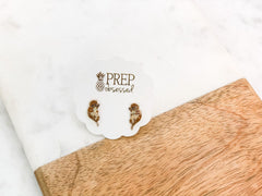 Otter Signature Enamel Studs by Prep Obsessed