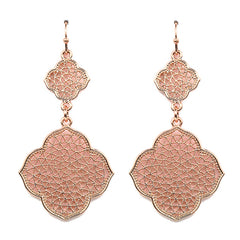 Rose Gold Marisa Dangle Earrings