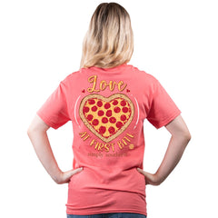 'Love At First Bite' Pizza Short Sleeve by Simply Southern