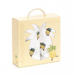 Amuseable Pineapple Pair Of Muslins by Jellycat