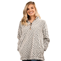 Gray Mermaid Sherpa Pullover by Simply Southern