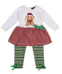 Toddler 'Puppy' Dress Set by Simply Southern