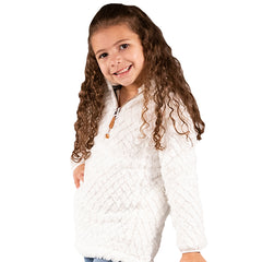 Youth White Mermaid Sherpa Pullover by SS