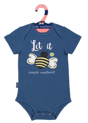Baby Crawler Onesie by Simply Southern - Let It Bee