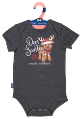 Baby Holiday Crawler Onesie by Simply Southern - Reindeer