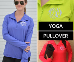 Monogrammed Yoga Pullover (3-4 Week Production Time)