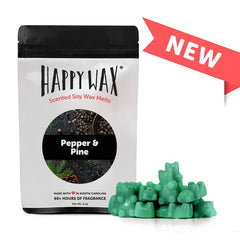 Happy Wax Soy Melts - Pepper & Pine