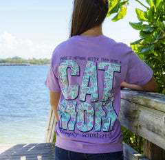 'Cat Mom' Short Sleeve Tee by Simply Southern