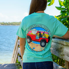 'Dawn Patrol' Jeep Short Sleeve Tee by Simply Southern