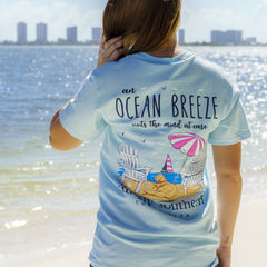 'Ocean Breeze' Short Sleeve Tee by Simply Southern
