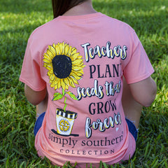 'Teachers Plant the Seeds' Short Sleeve Tee by Simply Southern