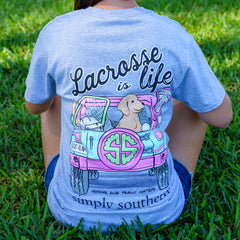 'Lacrosse is Life' Short Sleeve Tee by Simply Southern