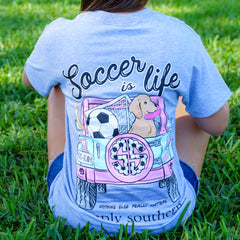 'Soccer is Life' Short Sleeve Tee by Simply Southern