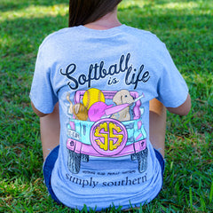 'Softball is Life' Short Sleeve Tee by Simply Southern