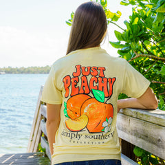 'Just Peachy' Short Sleeve Tee by Simply Southern