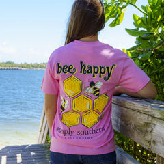 'Bee Happy' Short Sleeve Tee by Simply Southern