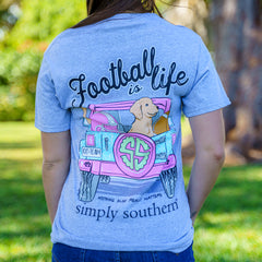 'Football is Life' Short Sleeve Tee by Simply Southern