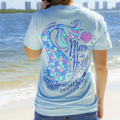 'Mermaid at Heart' Short Sleeve Tee by Simply Southern