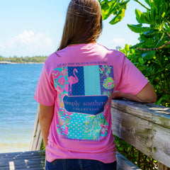 'Let All That You Do Be Done In Love' Flamingo Short Sleeve Tee by Simply Southern