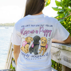 'Rescue a Puppy' Short Sleeve Tee by Simply Southern