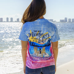 'Best Memories Are Made At the Lake' Tie Dye Short Sleeve Tee by Simply Southern
