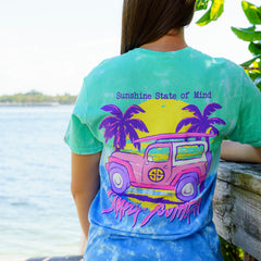 'Sunshine State of Mind' Tie Dye Short Sleeve Tee by Simply Southern
