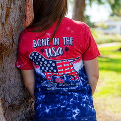 'Bone In the USA' Tie Dye Short Sleeve Tee by Simply Southern