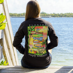 'Florida' Destination Long Sleeve Tee by Simply Southern