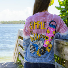 'Simple Is Better' Tie Dye Long Sleeve Tee by Simply Southern
