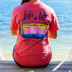 'Lake is Life' Short Sleeve Tee by Simply Southern