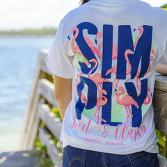 'Simply Sweet & Classy' Flamingo Short Sleeve Tee by Simply Southern