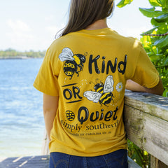'Bee Kind or Bee Quiet' Short Sleeve Tee by Simply Southern