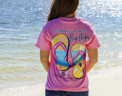 'Best Memories Are Made in Flip Flops' Short Sleeve Tee by Simply Southern