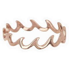 Wave Band Ring by Pura Vida - Rose Gold