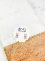 Purple Bunny Signature Enamel Studs by Prep Obsessed
